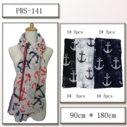 Anchor Motif Scarf