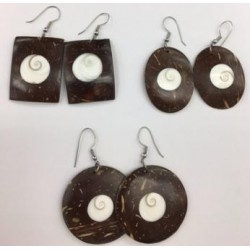 Coconut Wtih Shell Earring