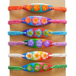 Flower Surf Board With Nylon Bracelet