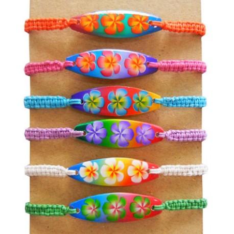 Flower Surf Board With Nylon Bracelet