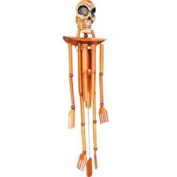 Skull Bamboo Wind Chime