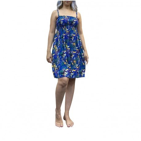 Pineapple & Parrot, Floral Print Summer Dress