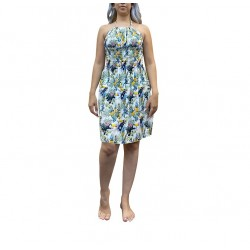 Pineapple & Parrot, Floral Print Halter Top Dress