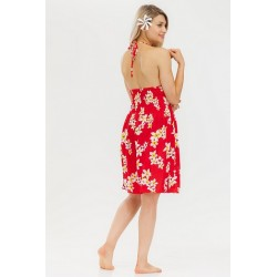 Floral Halter Top Beach Dress