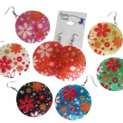 Shell Earrings-Flowers