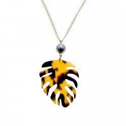 Monstera Leaf Pendant Necklace