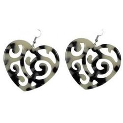 Heart Turtle (Faux) Earrings