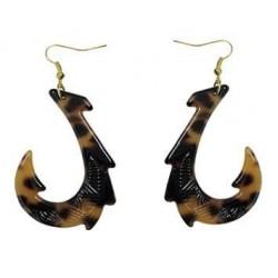 Turtle Fish Hook (Faux) Earring