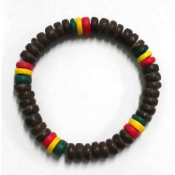 Brown Rasta Coconut Bracelet