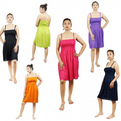 Plain Solid Colors Summer Dress