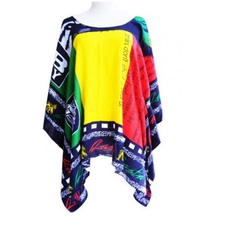 Rasta Poncho Top/Dress