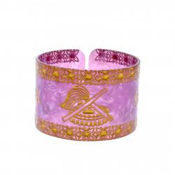 Faux Turtle Shell Talofa Samoa Bracelet ( Purple )