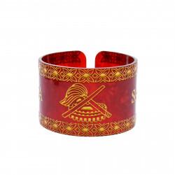 Faux Turtle Shell Talofa Samoa Bracelet ( Red )
