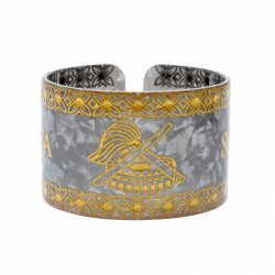 Faux Turtle Shell Talofa Samoa Bracelet ( Gray )