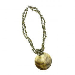 MOP Shell Pendant With Mongo Shell Necklace