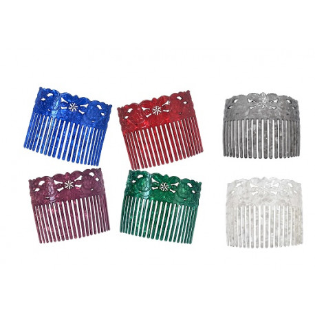 Faux Turtle Shell Hair Combs-Colors