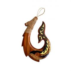 Hand Carved Fish Hook Art Sculpture