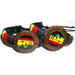 Rasta Man Leather Bracelet