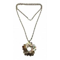 M.O.P Flower Pendant Necklace