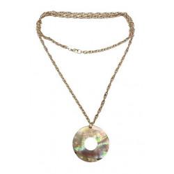 M.O.P Round Pendant Necklace