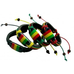 Rasta Leather Bracelet
