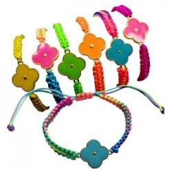 Neon Flower Pendant Bracelet
