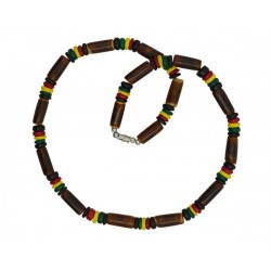 Rasta Coco With Bamboo Necklace