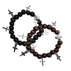 Bead & Cross Bracelet