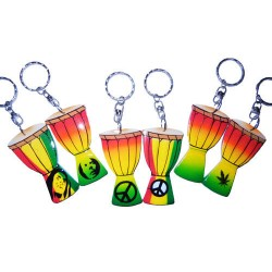 Rasta Drum Key Chain