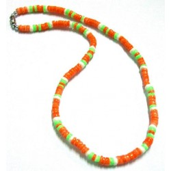 Neon Clam Shell Necklace