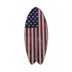 American Flag Surf Board Fridge Magnet