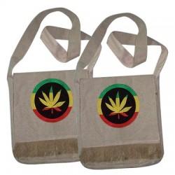 Hemp Rasta Style Bag - Leaf