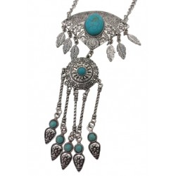 Turquoise Pendant Necklace & Earring Set