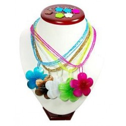 Flower Shell Necklace &Earring Set.