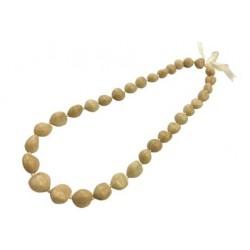 Natural Beige Kukui Nut Necklace