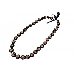 Plumeria Flower Kukui Nut Necklace