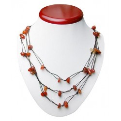 Stone Necklace (Brown)