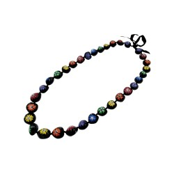 Flower Kukui Nut Necklace