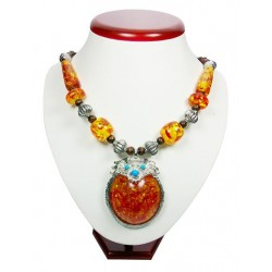Ember Color Stone Necklace