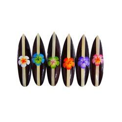 Plumeria Flower Surf Magnet