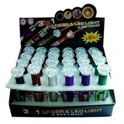 Laser&LED Light Key Chain
