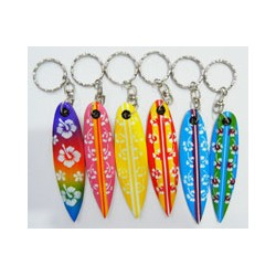 Surf Key Chain with Flower