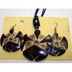 Turtle pendant necklace&earring set