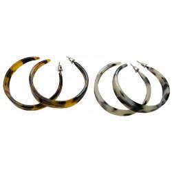 Faux Turtle Shell Hoop Earrings