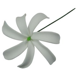 White Tiare Foam Flower Stick
