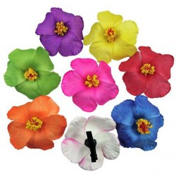 Solid Hibiscus Flower Hair clip