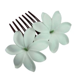 Tiare Flower Hair Comb