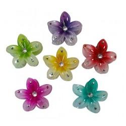 Plastic Flower Hair Clips