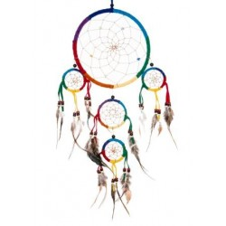 Rainbow Dream Catcher ( M Size)