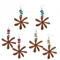 Tiare Flower With Shell Earrings